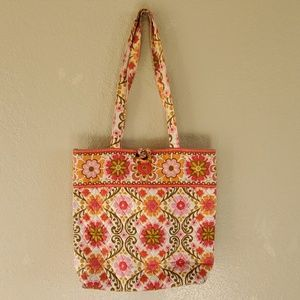Vera Bradley tote bag makeup bag set